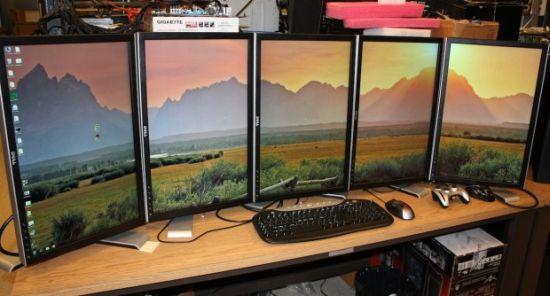 kilka monitorow polaczonych jeden komputer